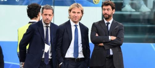 Fabio Paratici, Pavel Nedved, Andrea Agnelli (foto: tuttosport.com)