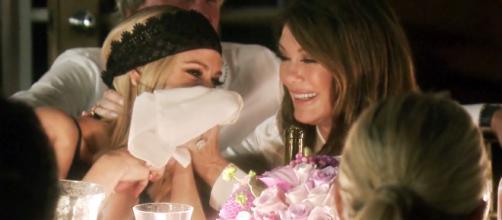 Lisa Vanderpump is seen laughing on 'RHOBH.' - [Photo via Bravo]