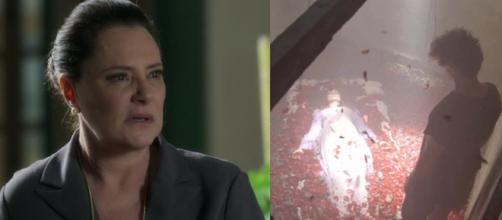 Mirtes e Milu morta. (Reprodução/TV Globo)