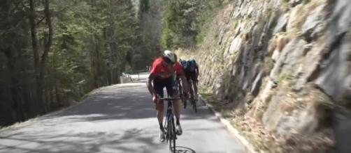 Vincenzo Nibali all'attacco al Tour of the Alps