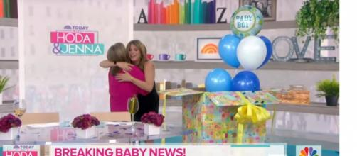 While the Today family celebrates Jenna Bush Hager's baby 3, they support Dylan Dreyer in fertility struggle. [Image source:TODAY-YouTube]