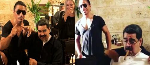 Nicolás Maduro en una muestra de los lujos de los socialistas ante las carencias que vive el pueblo venezolano