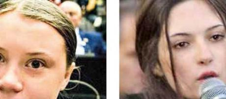 Greta Thunberg e Izabella Nilsson Jarvandi