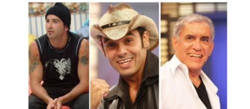 Buba, André e Nono participaram do 'BBB', mas já faleceram. (Reprodução/TV Globo)