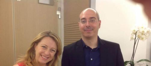 Il musulmano italiano Cristian Karim Benvenuto insieme a Giorgia Meloni