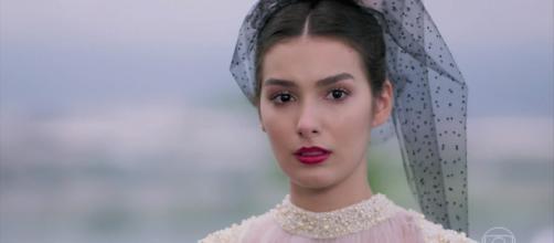 Larissa confessa para Quinzinho que seu verdadeiro amor é Diego. (Reprodução/TV Globo)