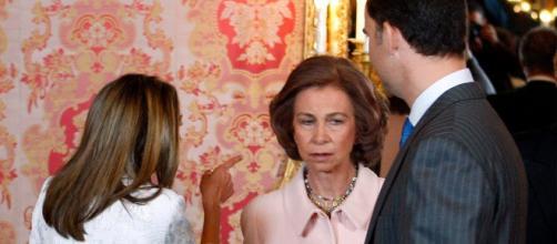 Reina Letizia y Doña Sofía en imagen