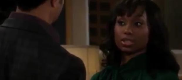 Leslie returns to Genoa City for Neil's memorial. [Image Source: Soap Opera Digest-YouTube]