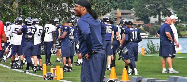 Marshawn Lynch ran for over 10,000 yards in his 11-year career. [Image Source: Flickr   Nikki Jones]