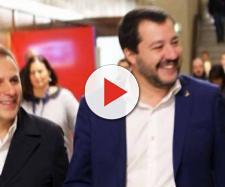 Armando Siri insieme a Matteo Salvini