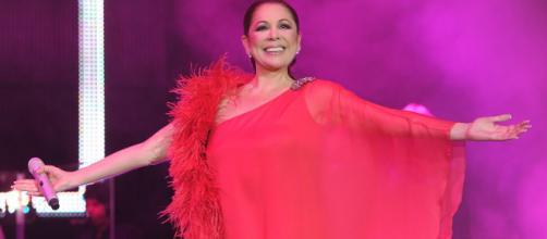 Fotografía de Isabel Pantoja en un concierto