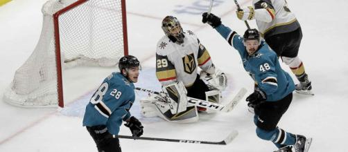 Los 4 goles en 5 minutos de los Sharks, se quedarán en la historia. www.winnipegfreepress.com