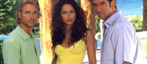 Sebastián Rulli, Bárbara Mori e Eduardo Santamarina são os protagonistas de 'Rubi'. (Reprodução/Televisa)