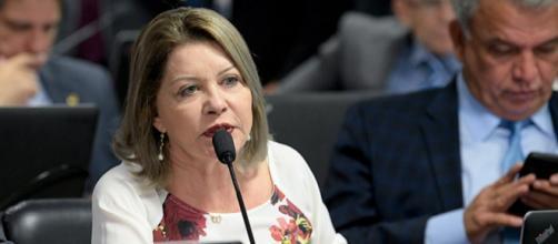 Senadora Juíza Selma (PSL/MT) apresentou relatório favorável à PEC 29/2015, que pode dificultar o aborto no Brasil. (Pedro França/Agência Senado)
