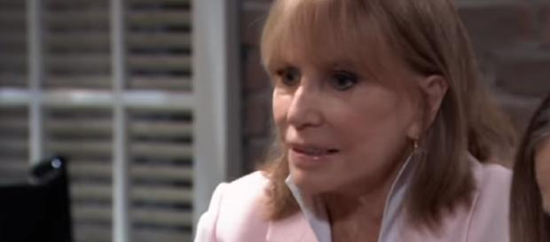 Monica witnessing Oscar's death. - [General Hospital / YouTube screencap]