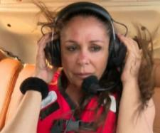 Isabel Pantoja momentos antes del salto al agua en Supervivientes 2019