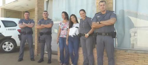 Garota recebeu visita de policiais após carta de agradecimento. (Reprodução/Arquivo Pessoal)