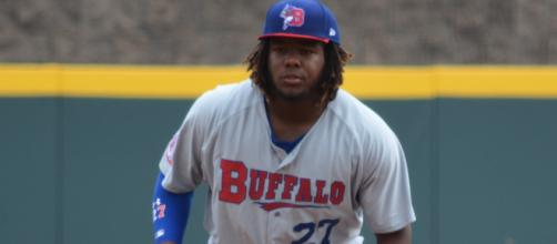 Vladimir Guerrero Jr will be making his long anticipated major league debut. [image source: Tricia Hall- Flickr]