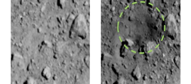 Científicos japoneses crean primer cráter artificial en un asteroide