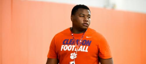 Dexter Lawrence was taken 17th overall by the Giants. [Image Source: Flickr | TigerNet.com]