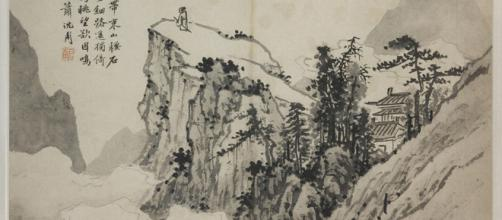 Poet on a Mountain by Shen Chou [Image source: The Nelson-Atkins Museum of Art]]
