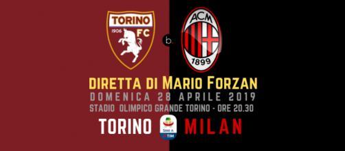 Serie A: 34ma di campionato: Torino - Milan alle ore 20.30