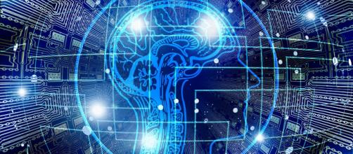 Description: A digital brain is crafted on a computer chip. Image source: Geralt/Pixabay