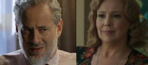 Eurico e Ondina em 'O Sétimo Guardião'. (Reprodução/TV Globo)