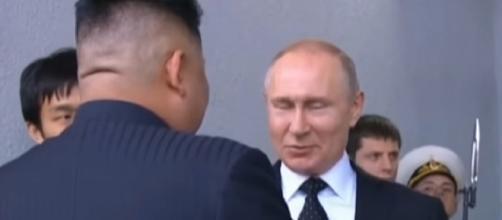 Image of Kim-Putin summit. - [DW News / YouTube screencap]