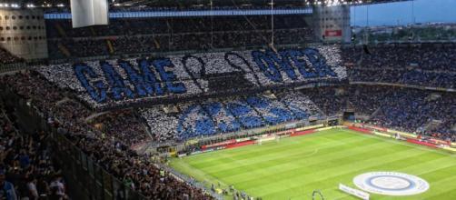 La coreografia della Curva Nord in Inter-Juventus.