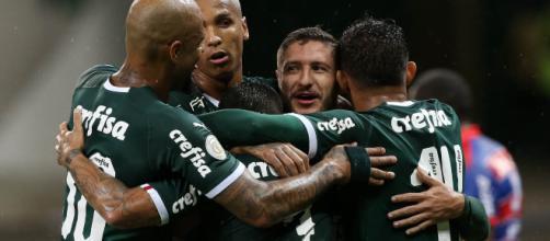 Palmeiras iniciou defesa do título com goleada sobre o Fortaleza. (Divulgação/Cesar Greco/Palmeiras)