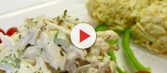 Sweet and sour crab salad recipe