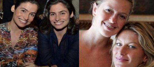 Estas celebridades se assemelham muito fisicamente. (Reprodução/Pinterest)