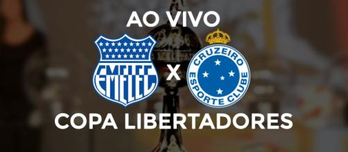 Emelec x Cruzeiro ao vivo (montagem Diogo Marcondes)