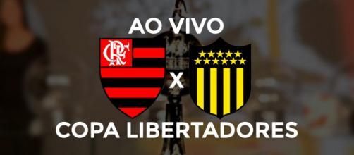 Flamengo x Peñarol ao vivo. (Arte/ Diogo Marcondes)