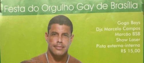 Alexandre Frota em flyer de festa gay no DF (Reprodução)