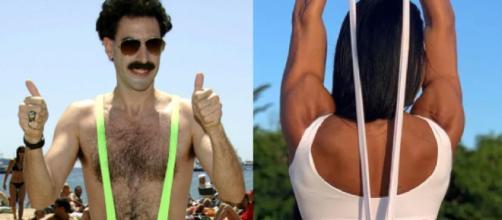 Gracyanne Barbosa e Borat. (Arquivo Blasting News/Reprodução/Instagram/@graoficial)
