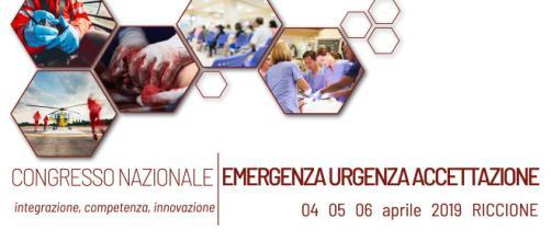 Locandina del Congresso Nazionale Emergenza Urgenza e Accettazione di Riccione