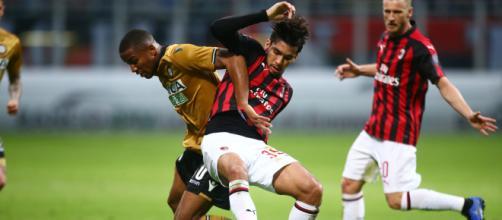 Paquetá saiu machucado da partida. (Divulgação/AC Milan).