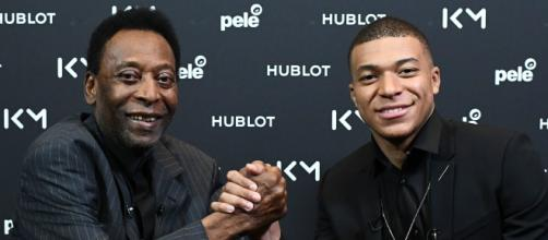 Pelé esteve em Paris para um encontro com Mbappé. (Foto/Arquivo/BlastingNews)