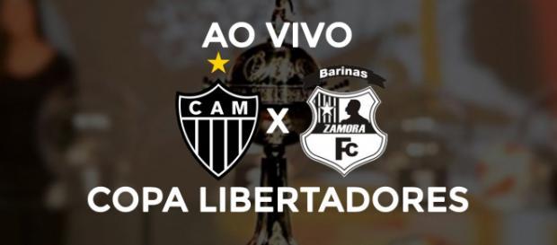 Atlético-MG x Zamora ao vivo. (Arte/ Diogo Marcondes)