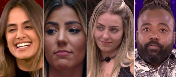 Favoritas ao BBB e Rodrigo eliminado. (Reprodução/ Gshow/ TV Globo)