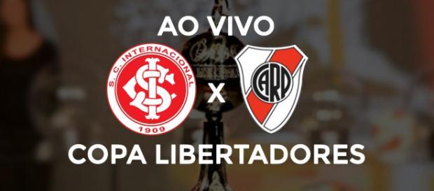 Inter x River Plate ao vivo (montagem Diogo Marcondes)