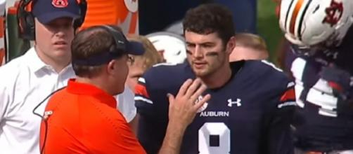 Jarrett Stidham played two seasons at Auburn. - [New England Patriots / YouTube screencap]
