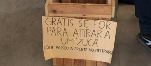 Mensagem destinava-se a brasileiros estudantes de mestrado da Faculdade de Lisboa. (Reprodução/Twitter/ @dudacalada)