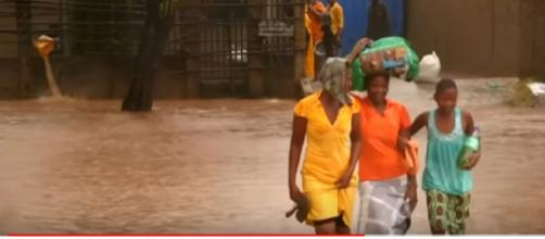 Mozambique hit by flooding in aftermath of Cyclone Kenneth. [Image source/VOA News | YouTube video]