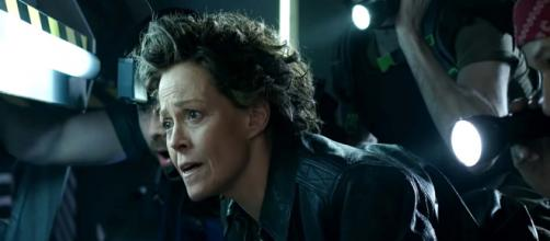"Sigourney Weaver introduced an encore stage adaptation of ""Alien"" by high school students. [Image Full Frontal with Samantha Bee/YouTube]"