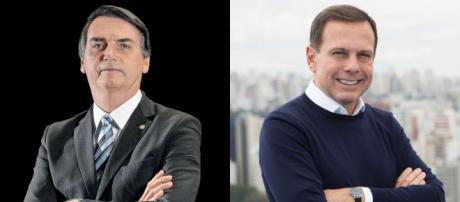 João Doria e Jair Bolsonaro. (Fotomontagem/Arquivo Blasting News)