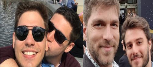 Esses famosos resolveram assumir publicamente sua relação com outros homens. (Foto: Divulgação/ Instagram/ @hugobonemer e @pedfig)