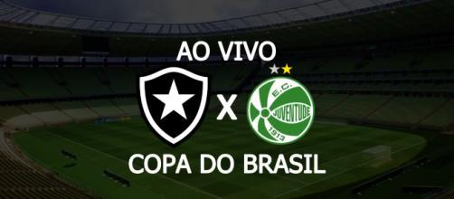 Botafogo x Juventude ao vivo (Montagem/Diogo Marcondes)